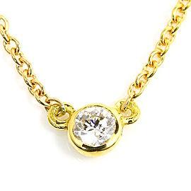 Tiffany & Co. Elsa Peretti Diamonds by the Yard 18K Yellow Gold Diamond Pendant Necklace