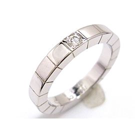 Cartier Lanieres 18K White Gold & Diamond Ring Size 4.25