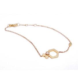 Chaumet 750 Yellow Gold with Diamond Bee My Love Bangle Bracelet