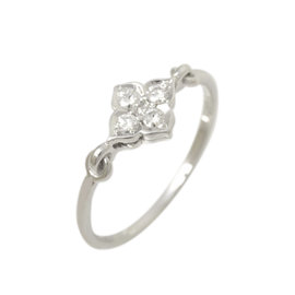 Cartier Hindoue 750 White Gold with Diamond Ring Size 6.5