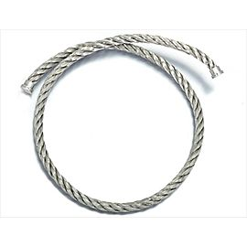 Fred of Paris Stainless Steel Double Cord Bracelet Bangle