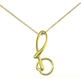 "Tiffany & Co. Elsa Peretti 18K Yellow Gold Infinity Pendant Chain ""B"" Necklace"
