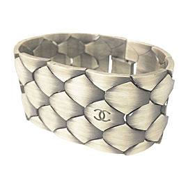 Chanel 98A Coco Mark Silver Tone Hardware Vintage Bangle Bracelet