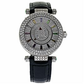 Franck Muller DM 39 COL DRM D 2RCD White Gold & Leather wDiamonds Automatic 42mm Unisex Watch