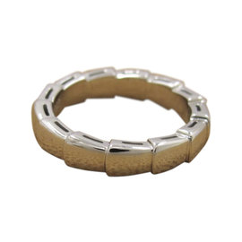 Bulgari Serpenti 750 White Gold Band Ring Size 4.5