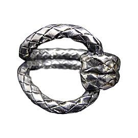Bottega Veneta 925 Sterling Silver Ring Size 6.5