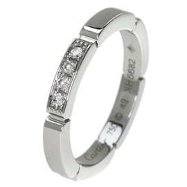 Cartier Maillon Panthere 18K White Gold with Diamond Ring Size 4.75