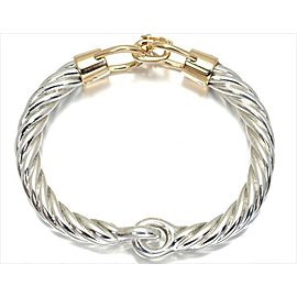 Gucci 750 Yellow Gold 925 Sterling Silver Bracelet Bangle