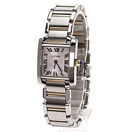 Cartier Tank Francaise Stainless Steel / 18K Pink Gold Quartz 20.3mm Womens Watch