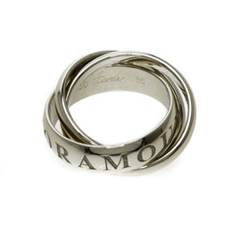 Cartier Trinity 18K White Gold Ring Size 5.25