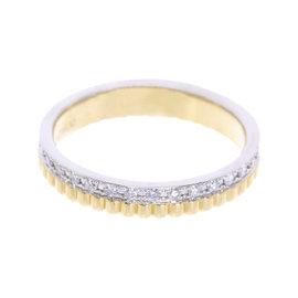 Boucheron 18K Yellow & White Gold Diamond Quatre Ring Size 4.75