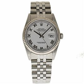 Rolex Datejust 16234 Stainless Steel & White Gold Automatic 36mm Unisex Watch