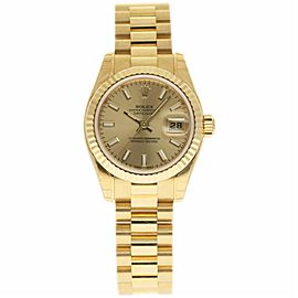 Rolex Datejust President 179178 18K Yellow Gold 26mm Womens Watch
