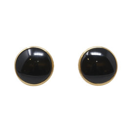Mont Blanc 18K Yellow Gold Classic Black Onyx Cufflinks