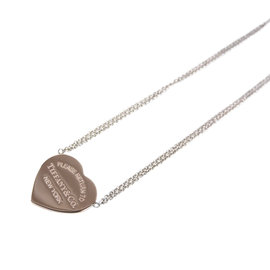 Tiffany & Co. Return to Tiffany Heart Pendant Rubedo Metal and 925 Sterling Silver Necklace