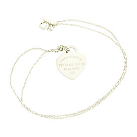Tiffany & Co. 925 Sterling Silver Return to Tiffany Heart Pendant Necklace