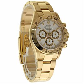 Rolex Daytona 16528 18K Yellow Gold with White Dial 40mm Mens Watch