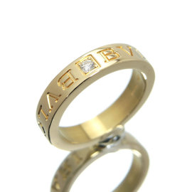 Bulgari Bvlgari 18k Yellow Gold Diamond Ring Size 5.5