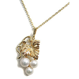 Mikimoto 18K Yellow Gold with Cultured Pearl Pendant Necklace