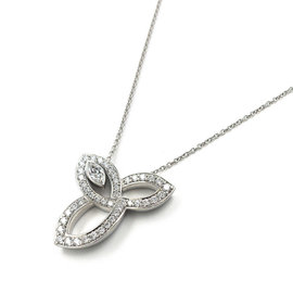 Harry Winston Lily Cluster Platinum with 0.09ct. Diamond Pendant Necklace
