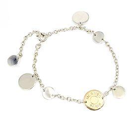 Hermes 925 Sterling Silver & 18K Rose Gold Serie Selye Bracelet