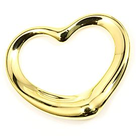 Tiffany & Co. 18K Yellow Gold Open Heart Pendant