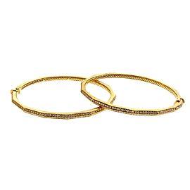 David Yurman 18K Yellow Gold Diamond Set of Bangles