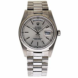 Rolex Oyster Perpetual Day-Date 18039 18K White Gold Automatic Vintage 36mm Mens Watch