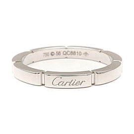 Cartier Maillon Panthère 18K White Gold Band Ring Size 7.5