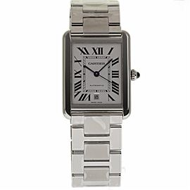 Cartier Tank Solo W5200028 Stainless Steel Automatic 40mm Mens Watch