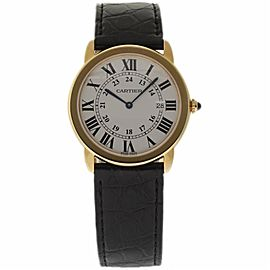Cartier Ronde Solo W6700455 18K Yellow Gold Quartz 36mm Mens Watch