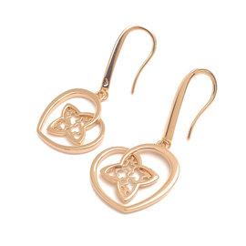 Louis Vuitton Boucles D'oreilles Coeur 18K Rose Gold Earrings