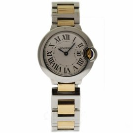 Cartier Ballon Bleu W2BB0010 Stainless Steel & Yellow Gold 28mm Womens Watch