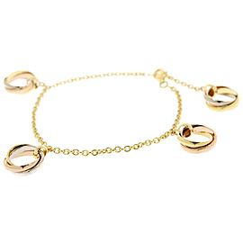 Cartier 18K Yellow, White & Rose Gold Bracelet