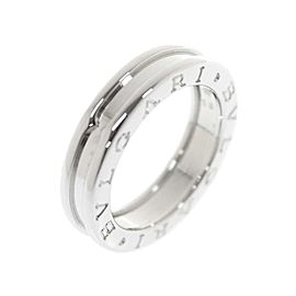 Bulgari B-Zero 1 18K White Gold Band Ring Size 7.75