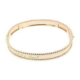 Van Cleef & Arpels 18K Rose Gold Perlee Signatur Bangle Bracelet