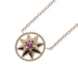 Christian Dior Rose des Vents 18K Rose Gold with Pink Sapphire and Pearl Necklace