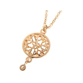 Hermes Passerelle 18K Rose Gold and Diamond Pendant Necklace