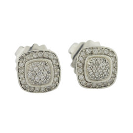 David Yurman Albion 925 Sterling Silver with 0.36tcw Diamonds Earrings