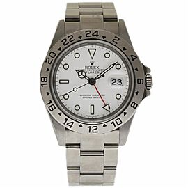 Rolex Explorer II 16570 Stainless Steel & White Dial 40mm Mens Watch