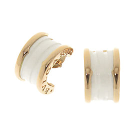 Bulgari B-Zero1 18K Pink Gold and Ceramic Earrings