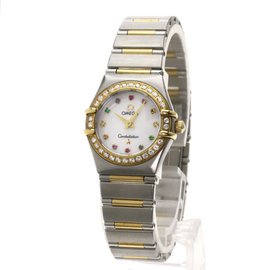 Omega Constellation 1367-79 Stainless Steel and 18K Yellow Gold 22.5mm Womens Watch