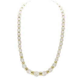 Boucheron 18K Yellow Gold with Rock Crystal Necklace