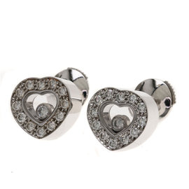 Chopard 18K White Gold with Diamond Happy Earrings