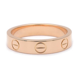 Cartier Mini Love 18K Rose Gold Ring Size 4.25