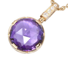 Bulgari 18K Rose Gold with Amethyst & Diamond Parentesi Cocktail Necklace