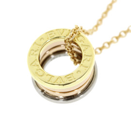 Bulgari B. Zero 1 18K White Rose and Yellow Gold Pendant Necklace