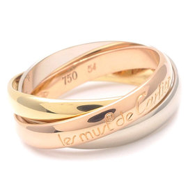 Cartier 18K Yellow, Rose & White Gold Trinity Ring Size 7