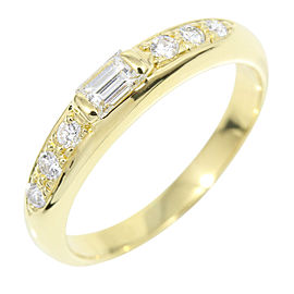 Cartier 18K Yellow Gold and Diamond Ring Size 5.25