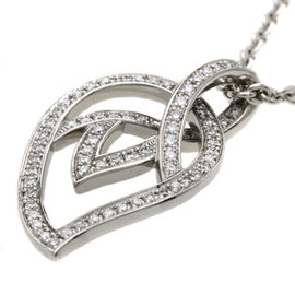 Piaget 18K White Gold & Diamond Leaf Pendant Necklace